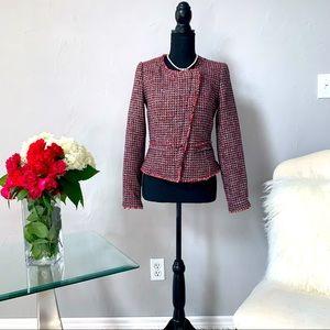 White House Black Market Pink Tweed Jacket